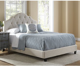 Lucille All-N-One Fully Upholstered Tufted Saddle Queen-Size Bed, Quick Ship