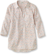 L.L. Bean Women's Seaside Popover, Three-Quarter Sleeve Multifloral