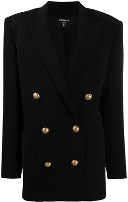 Balmain Double-Breasted Wide-Shoulder Blazer