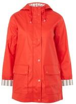 Topshop TALL Hooded Raincoat Mac