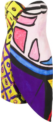 Moschino Cady abstract print fitted dress