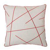 Thro Morgan Criss Cross Embroidered Pillow