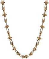 Maria Francesca Pepe Silver Plated Stud Chain Necklace