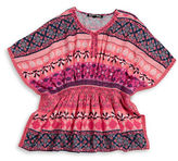 Planet Gold Girls 7-16 Printed Caftan Top
