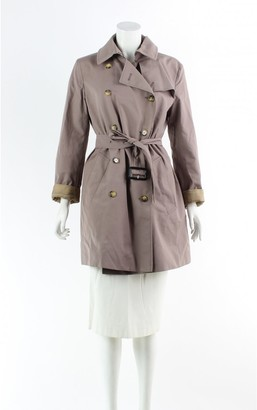 Burberry Silver Suede Trench Coat for Women