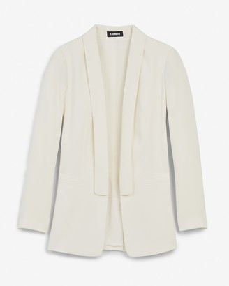 Express Shawl Collar Long Sleeve Boyfriend Blazer