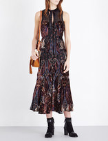 Free People Hands To Hold burnout velvet midi dress