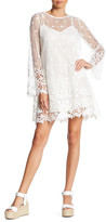 French Connection Long Sleeve Crochet Lace Dress