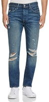 Levi's LEVI'S 501 Distressed New Tapered Fit Jeans in Dark Blue