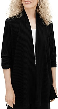 Eileen Fisher Ribbed Open Front Jacket