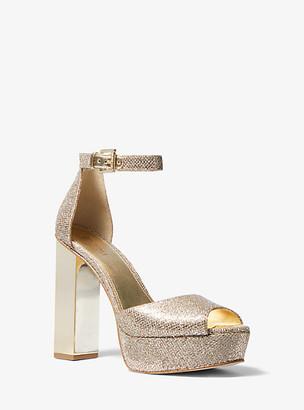 MICHAEL Michael Kors Petra Glitter Mesh Platform Sandal