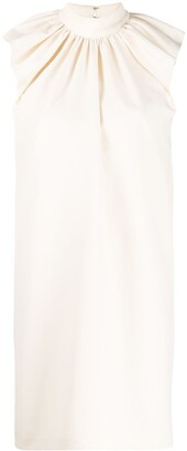 Victoria Victoria Beckham Ruched Detail Midi Dress