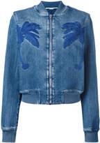 Stella McCartney palm patch zip bomber jacket