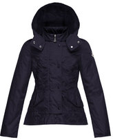 Moncler Ayrolette Hooded Raincoat, Dark Blue, Size 8-14
