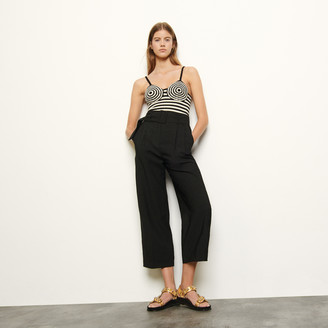 Sandro High-waist trousers with belt