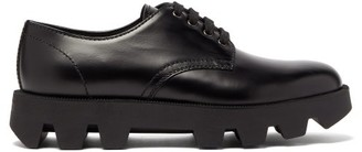 Prada Exaggerated-sole Leather Derby Shoes - Mens - Black