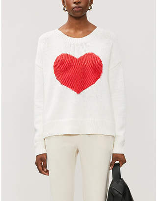 Wildfox Couture Heart Struck graphic-print cotton-knit jumper