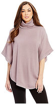 Antonio Melani Emory Turtleneck Short Sleeve Wool Poncho