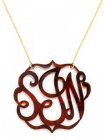 BaubleBar Extra Large Acrylic Script Monogram Necklace