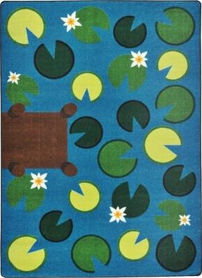 "Kid Essentials Playful Pond Green/Blue Area Rug Joy Carpets Rug Size: 7'8"" x 10'9"""