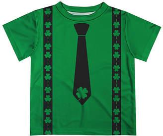 Monday's Child Boys' Leggings - Green Clover Suspenders Tee - Infant, Toddler & Boys