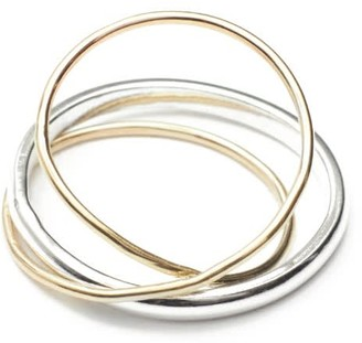 All Day Sterling Silver & 9K Gold Orbit Ring