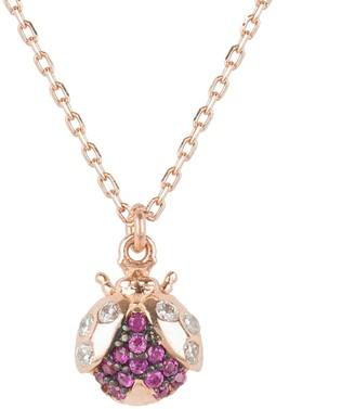 Rosegold The Lady Bug Ladybird Pendant Necklace