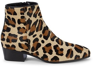 Aquatalia Fuoco Weatherproof Leopard Calf Hair Booties
