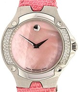 Movado SE Pink Mother Pearl Diamond 37mm Unisex Leather Watch