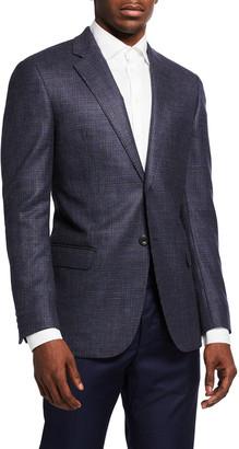 Emporio Armani Men's Houndstooth Wool Sport Jacket