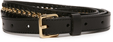 Rebecca Minkoff Flat Strap Belt with Chain