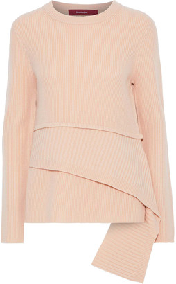 Sies Marjan Sae Color-block Ribbed Wool And Cashmere-blend Sweater