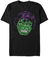 Fifth Sun Men's Tee Shirts BLACK - The Incredible Hulk Black Luck Icons Face Tee - Men