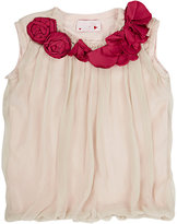 Lanvin FLORAL SLEEVELESS TOP-TAN SIZE 4