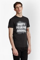 French Connection Party Animal Slogan T-Shirt