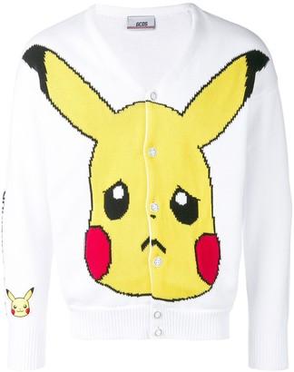 GCDS Pikachu intarsia cardigan
