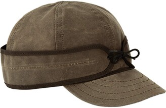 Stormy Kromer Waxed Cotton Cap - Lightweight Fall Hat with Earflaps - Brown - 7.625