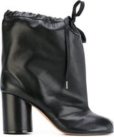 Maison Margiela Tabi drawstring ankle boots - women - Goat Skin/Leather - 38