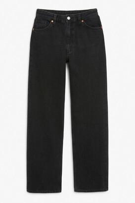 Monki Taiki straight leg black jeans