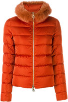 Herno furry trim puffer jacket