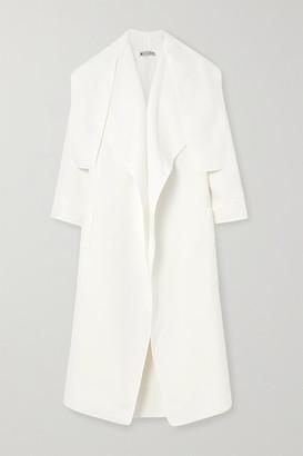Maticevski Tie-detailed Crepe Coat - White
