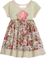 Bonnie Baby Striped and Floral-Print Dress, Baby Girls (0-24 months)