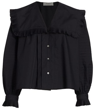 Sea Charlie Cotton Pleated Blouse