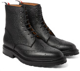 Thom Browne - Pebble-grain Leather Wingtip Brogue Boots