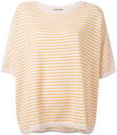 N.Peal oversized stripe T-shirt - women - Cashmere - M