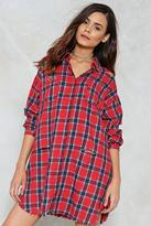 Nasty Gal nastygal Ring Out the Best In Me Plaid Shirt Dress