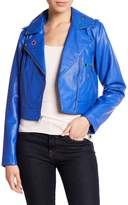 Sam Edelman Faux Leather Metal Eyelet Moto Jacket