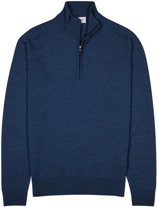John Smedley Tapton navy wool jumper