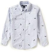Brooks Brothers Little/Big Boys 4-20 Striped Varsity Print Shirt