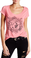 True Religion Flower Bowl Logo V-Neck Tee